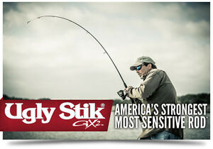 "GX2 Ugly Stik 6'6"" Medium Shakespeare  USSP662M Spinning Rod (Rod Only)"