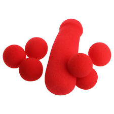4Pcs Red Sponge Balls Small Sponge Brother Funny Stage Prop Magic Tricks Toys