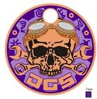 Steampunk Skull DGS 2019 Version 2 Copper Dirtbag Geocaching Society Pathtag