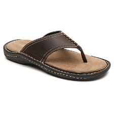 ROCKPORT Kevka Lake Thong BROWN Leather Flip Flops Sandals NEW 13 med EUR 47.5