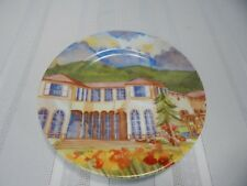 Chateau St.Jean Sonoma County Winery Hand Painted Plate By Gina Comelli Locke
