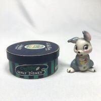 THUMPER WADE HAT BOX SERIES No.10 Vintage Porcelain Figurine Walt Disney Bambi
