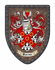 Custom Family Coat of Arms Crest - Large Family Display Shield SH503PDGHG-custom