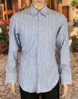Hugo Boss Size 16 32-33 Mens Shirt Regular Fit 100% Cotton L/Sleeve Button Front