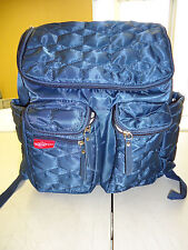 Wallaroo Diaper Backpack with Stroller Straps, Wet Bag Navy