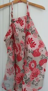 Adjustable Breathable Breastfeeding Nursing Apron Cover, Pink and Red Floral