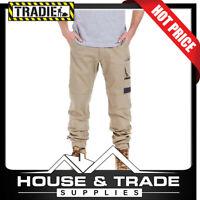 Tradie Flex Cuffed Skinny Pant KHAKI Slim Fit Various Sizes MJ3351SE