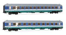 Rivarossi HR 4220 Set 2 Stück Schnellzugwagen UIC-X, 2.Kl der FS Ep.5/6 UVP.133€
