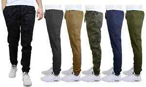 Galaxy Men's Cotton-Stretch Twill Joggers 100% Cotton Pants NWT Free Shipping
