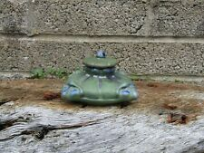 More details for antique arts & crafts period stoneware pottery inkwell - signed to the base