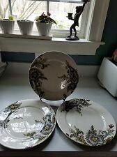 New Listing Tabletops Gallery Angela Set Of 3 Dinner Plates Paisley Brown  Teal  Very Nice!