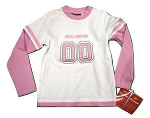Reebok Little Girls Colorado Avalanche #00 Hockey Shirt Look S(4), M(5-6), L(7)