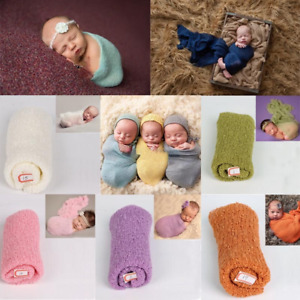 Newborn Child Baby Body Wrap Knitting Blanket Photography Photo Props 17 Colors