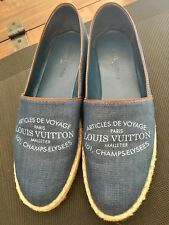 Chaussures Espadrilles LOUIS VUITTON pointure 38,5 (grand) denim shoes flats