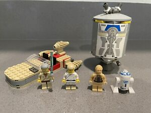 Lego Star Wars Sets Lot Landspeeder 7110 Droid Escape 7106 Complete No Manuals
