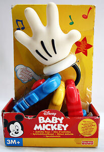 RARE 2000 FISHER PRICE BABY MICKEY ACTIVITY KEYS 3M+ DISNEY NEW NRFB !