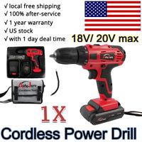 Portable Cordless Drill Li-Ion Electric Driver Kit Tool Repair Set 18v 20v max