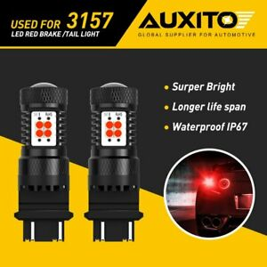 AUXITO 3157 3057 3156 14SMD RED LED Brake Stop Tail Turn Signal Light Bulbs T25