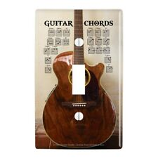 Guitar Chords Music Plastic Wall Decor Toggle Light Switch Plate Cover