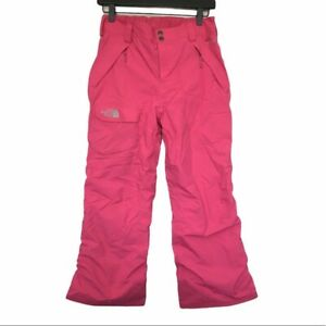 The North Face Hyvent Pink Snow Ski Snowboard Pants, Girls 14/16