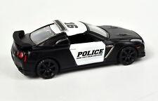 Nissan GT-R (R35) Police Maßstab 1:64 von maisto