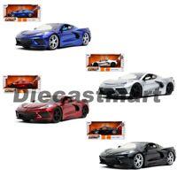 Jada 1:24 Bigtime Muscle 2020 Chevrolet Corvette C8 Stingray Diecast Model Car