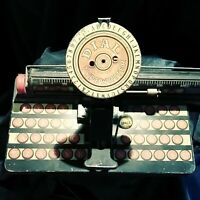 Vintage Louis Marx Dial Toy Typewriter Tin from the 1930s  Antique Children's