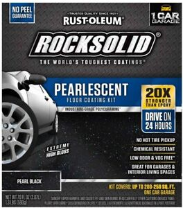 Rust-Oleum Rocksolid Pearlescent Floor Coating Kit – Pearl Black