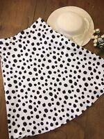 Simply Be Skirt Size 16 Cotton White Black Spotty