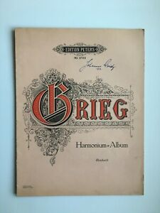Noten.  Grieg.  Harmonium-Album. (Reinhard).
