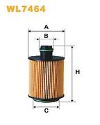 Wix WL7464 Oil Filter For Cit/Peugeot/Alfa Romeo/Fiat/Chrysler Diesels see list