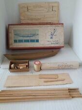 Vintage 1937 Marine Model Co New Bedford Whale Boat True Scale Wood Kit Box 1069