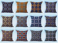 US Seller- 10pcs decorative pillow cover cushion covers Mexican Spanish talavera
