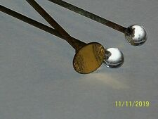 Vintage Antique Lot Of 3 Glass & Gold Fill Hat Pin, Stick Pin