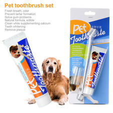 Pet Dog Puppy Cat Toothpaste Toothbrush Set Teeth Care Whitening Cleaning Health