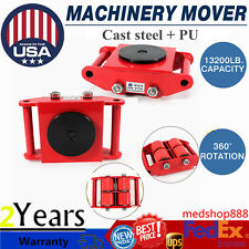 Industrial Machinery Mover 6T 13200lb HeavyDuty Machine Dolly Skate 360°Rotation