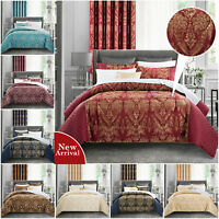3 Piece Jacquard Bedspread Quilted Throw Double King Size Bedding Comforter Set
