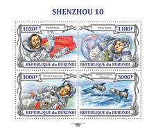SHENZHOU 10 Chinese Astronaut Spaceflight Space Stamp Sheet #1 (2013 Burundi)