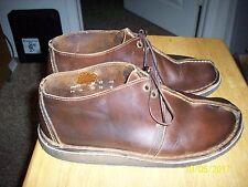 Men's 10 Clarks Desert Trek dark brown leather mid boots crepe rubber soles