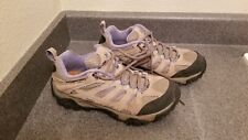"""size 8 """"aluminum/marlin"""" womens purple and tan Merrell trail shoes"""