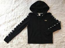 VS PINK Full Zip Black Hoodie Size Small