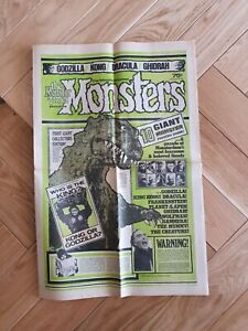 Famous monsters-Monster Times Rare item Giant magazine special issue #3 1970s