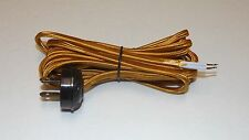 10 F00T GOLD RAYON LAMP CORD SET WITH ANTIQUE STYLE ACORN PLUG NEW 46862JB