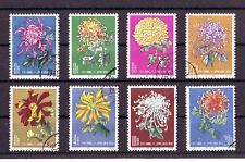 China,1960/61,Chrysanthemen, 8 versch. gest. Marken