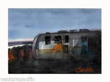 Airstream Trailer Faria Beach CA  Impressionist Watercolor :SIGNED Giclee Print