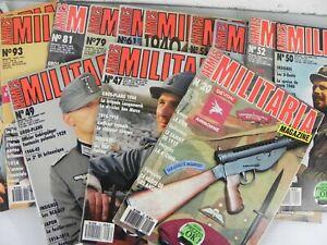 Lotto 14 Volumi ARMES MILITARIA MAGAZINE armi militari Francese De Bello rivista