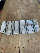 NEW! Beige & Grey Stripe LINUM Scandinavian Linen Cotton Bolster CUSHION COVER