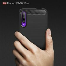 POUR HUAWEI HONOR 9X COQUE NOIR SILICONE GEL CARBONE CASE COVER HOESJE ETUI