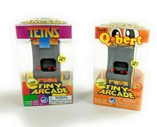 Tiny Arcade Q*bert and Tetris Miniature Arcade Games (2 Items)