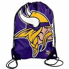 Minnesota Vikings Back Pack/Sack Drawstring Bag/Tote NEW Backpack BIG LOGO